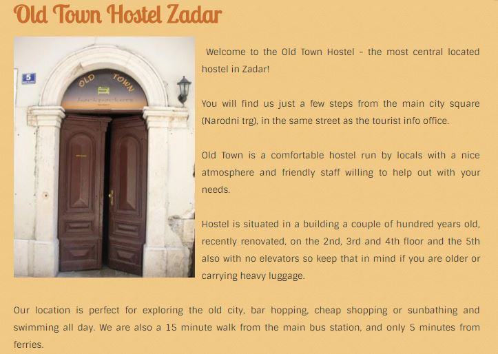 old town hostel zadar