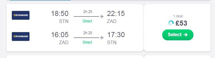 zadar flights